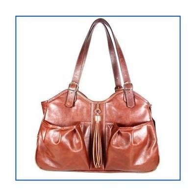 <新品>Petote Metro Couture All Leather with Tassel Dog Carrier, Toffee Brown, Large<並行輸入品>
