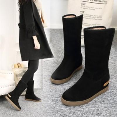 滑らない ボリューム感 防滑 歩きやすい ハイヒール 暖かい ムートンブーツ ショート靴 着痩せ 防寒靴
