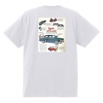 アドバタイジング フォード Tシャツ 白 1033 黒地へ変更可 1952 サンライナー ビクトリア f100 ランチワゴン アメ車 ロカビリー