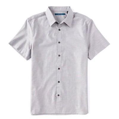 ペリーエリス メンズ シャツ トップス Solid Dobby Short-Sleeve Woven Shirt