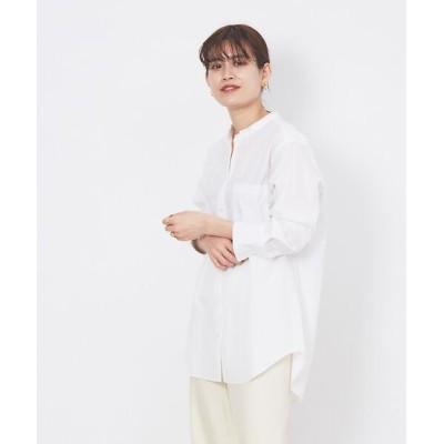 Rouge vif la cle/ルージュ・ヴィフ ラクレ スタンドカラーシャツ ホワイト F
