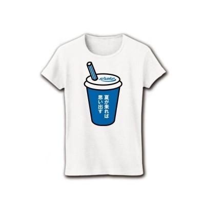 夏が来れば思い出す・シェイク! リブクルーネックTシャツ(ホワイト)