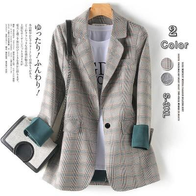 韓国ファッション 春コート 春物 アウター コートスーツ レディース おしゃれ ロング コート 大きいサイズ グレー 春アウター大人ZX775