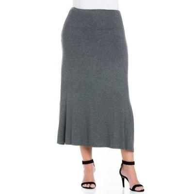 24セブンコンフォート スカート ボトムス レディース Women's Plus Size Maxi Skirt Smoke