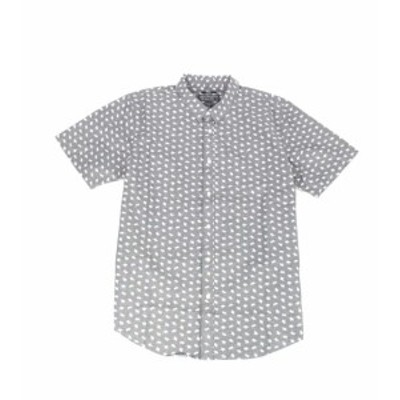 American  ファッション アウター American Rag Blue Mens Shirt Size Large L Bear Print Button Down