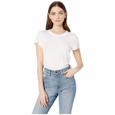 スプレンディッド Splendid レディース Tシャツ トップス Abbie Short Sleeve Modal Jersey Crew Tee White