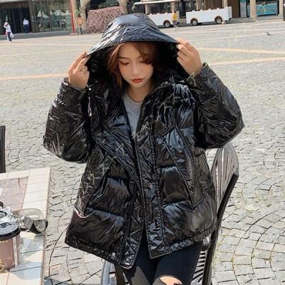 レディース ダウンジャケット 秋 冬 立ち襟コート フード ショート丈 ダウンコート 防寒着 中綿コート ゆったり 体型カバー アウター 暖かい 可愛い