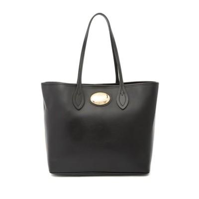 ロベルトカヴァリ レディース トートバッグ バッグ Leather Tote Bag BLACK