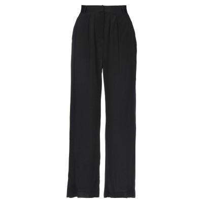 POMANDÈRE パンツ ブラック 42 レーヨン 100% パンツ