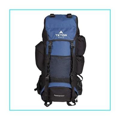 TETON Sports Explorer 4000 Internal Frame Backpack; High-Performance Backpack for Backpacking, Hiking, Camping; Navy Blue【並行輸入品
