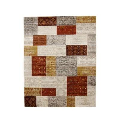 トルコ製 ウィルトン織り カーペット キエフ RUG オレンジ 約80×140cm  - イケヒココーポレーション