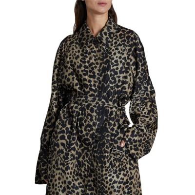 ドリス・ヴァン・ノッテン レディース コート アウター Leopard Print Long Rain Coat