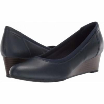 クラークス Clarks レディース ヒール シューズ・靴 Mallory Berry Navy Leather