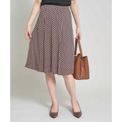 OFUON(オフオン)【洗濯機で洗える】パターンプリントスカート【お取り寄せ商品】