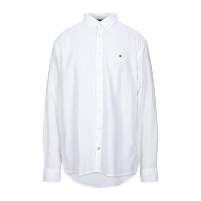 YOOX - トミーヒルフィガー TOMMY HILFIGER シャツ ホワイト XXL コットン 68% / リネン 32% シャツ