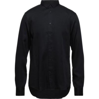 アルマーニ ARMANI EXCHANGE メンズ シャツ トップス solid color shirt Black