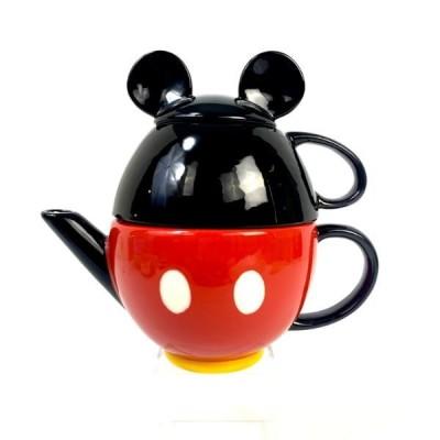 ディズニー ミッキーマウス ティーセット ポット カップ キッチン ブラック グッズ