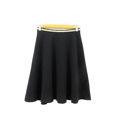 【中古】クリアインプレッション CLEAR IMPRESSION スカート フレア ひざ丈 ライン 2 黒 ブラック /AAM33 レディース 【ベクトル 古着】