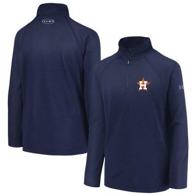 ヒューストン・アストロズ Under Armour Youth LC Logo Quarter-Zip Pullover ジャケット - Navy