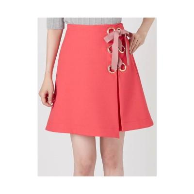 MERCURYDUO ブッチャーレースUPミニスカート ピンク
