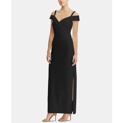 ラルフローレン ワンピース トップス レディース Embellished-Strap Off-The-Shoulder Gown Black