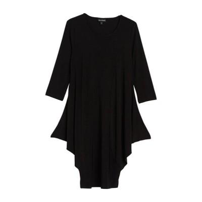 ニナレオナルド レディース ワンピース トップス Jersey Elbow Sleeve Dress BLACK