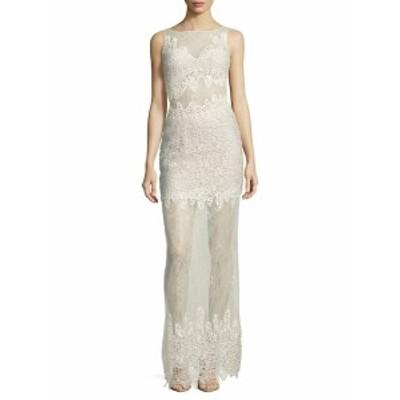 バシックスブラックラベル レディース ワンピース Sleeveless Lace Column Gown