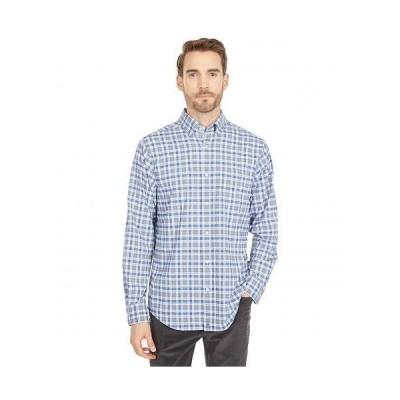 Vineyard Vines バインヤード・バインズ メンズ 男性用 ファッション ボタンシャツ Classic Fit Hawkins On-The-Go Performance Button-Down Shirt - Gray Ha..