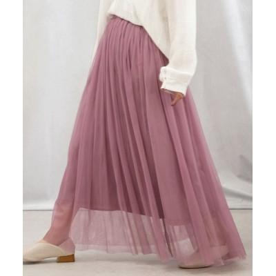 ANDJ / ロングチュールスカート WOMEN スカート > スカート