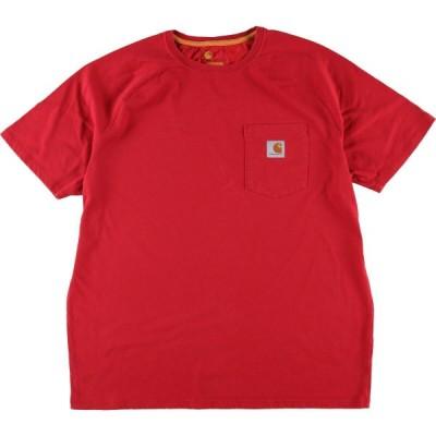 カーハート ワンポイントロゴポケットTシャツ メンズL /wbi7878