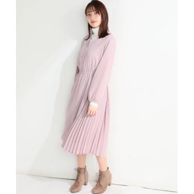 【ハニーズ】 プリーツ切替ワンピース レディース ピンク M Honeys