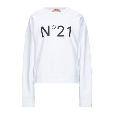 ヌメロ ヴェントゥーノ N°21 スウェットシャツ ホワイト 40 コットン 100% スウェットシャツ