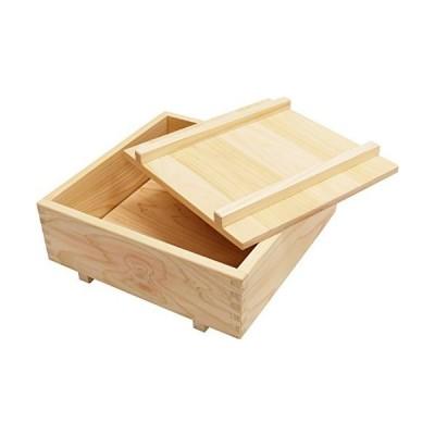 市原木工所 押し寿司型 ヒノキ 樹婦人 押し寿司器 箱寿司 9号 27×27×8.5cm 4971421041247
