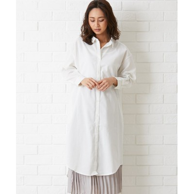 【Green Parks】・抜け襟シャツワンピース (ワンピース)Dress