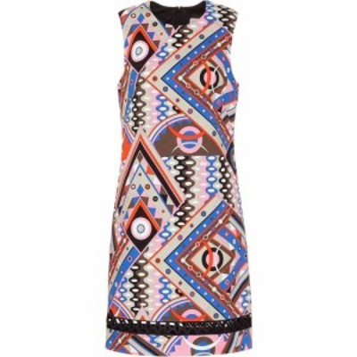 エミリオ プッチ Emilio Pucci レディース ワンピース シフトドレス ワンピース・ドレス Printed stretch-cotton shift dress Multi
