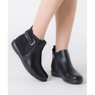ANDEX shoes product / coca /コカ ベルトデザインフワ軽 ソール サイドゴアショートブーツ 419020 WOMEN シューズ > スニーカー
