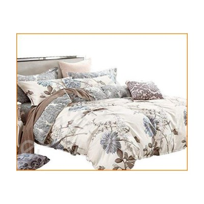 Swanson Beddings デイジー フローラル コットン100% 寝具セット:布団カバー/枕カバー/枕カバー Full (5pc)【並行輸入