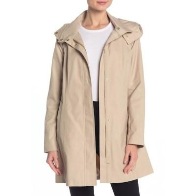 コールハーン レディース ジャケット&ブルゾン アウター Solid Hooded Rain Jacket SAND