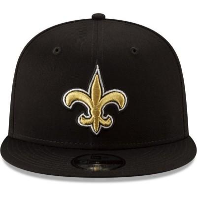 ニューエラ 帽子 アクセサリー メンズ New Era Men's New Orleans Saints 9FIFTY Basic Snap OTC Cap Black
