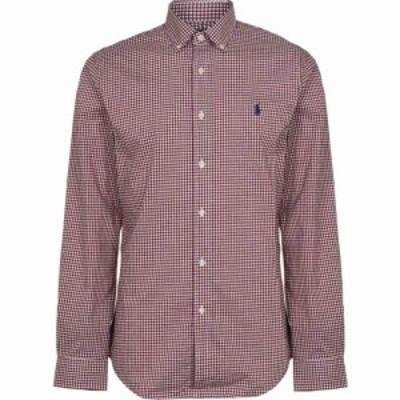 ラルフ ローレン Polo Ralph Lauren メンズ シャツ トップス Gingham Poplin Slim Fit Shirt Burgundy/White