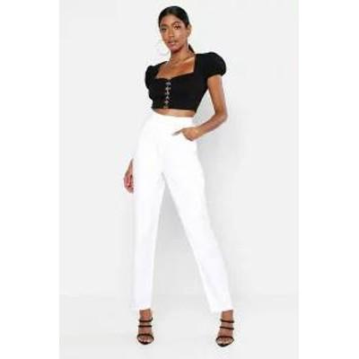 Boohoo レディーススカート Boohoo High Waisted Mom Jeans white