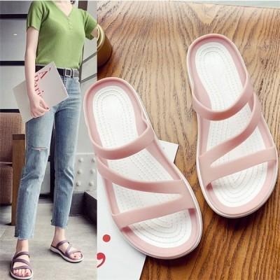 サンダル レディース ミュール サマーサンダル ぺたんこ 歩きやすい 履きやすい リゾート 海 夏 コンフォートサンダル カジュアル 靴 sandal 快適 可愛い 美脚