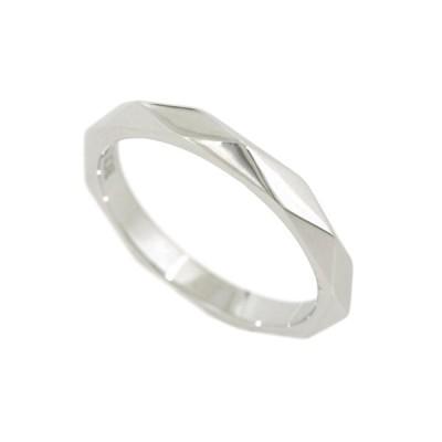 【中古】ブシュロン ファセット リング ミディアム 16号 #57 PT950 プラチナ JAL00014 5.3g 指輪 BOUCHERON
