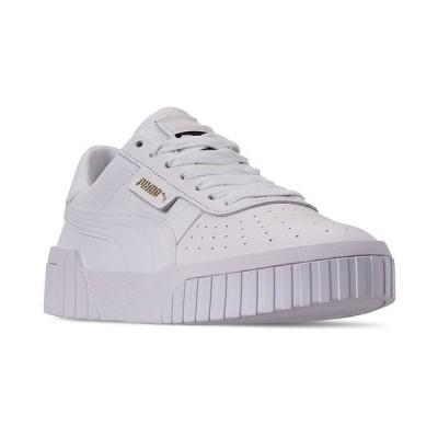プーマ スニーカー シューズ レディース Women's Cali Fashion Casual Sneakers from Finish Line WHITE/WHITE