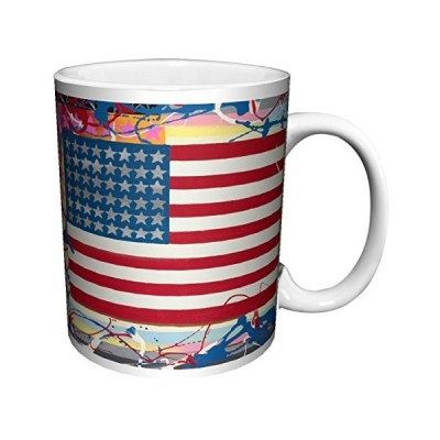 Steven Kaufman American Flag Decorative Fine Pop Art Ceramic Gift Coffee (Tea, Cocoa) 11 Oz. Mug【並行輸入品】