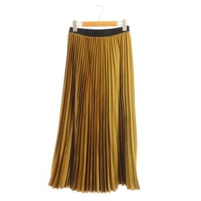 【中古】ゼロエイトサーカス 08SIRCUS 19SS プリーツスカート ロング 1 茶 ブラウン /MY ■OS レディース