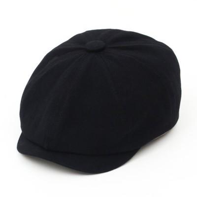 メンズ キャスケット キャスケット帽 帽子 レディース 秋冬 帽子 メンズ 大きいサイズ キャスケット おしゃれ キャップ ぼうし 無地 ブラック