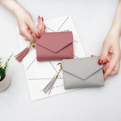 短い財布女子学生韓国版愛流蘇ゼロ財布ミニ小清新多機能折り畳み財布
