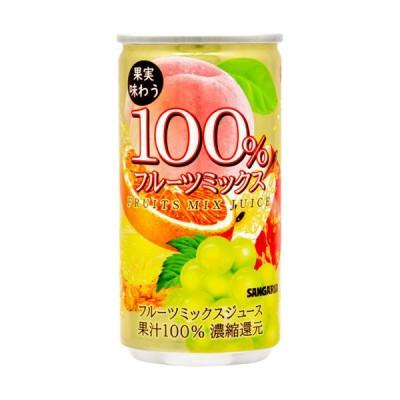 サンガリア 果実味わう100%フルーツミックスジュース ( 190g*30本入 )/ サンガリア