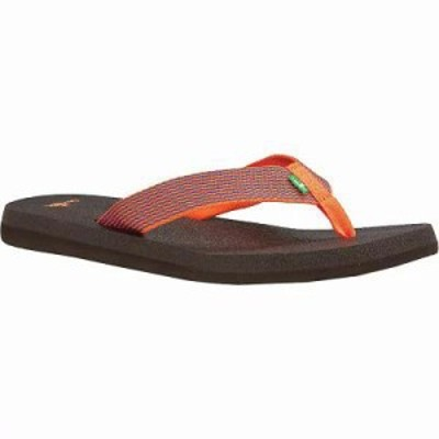 サヌーク サンダル・ミュール Sanuk Yoga Mat Webbing Sandal Hot Coral / Slate Blue